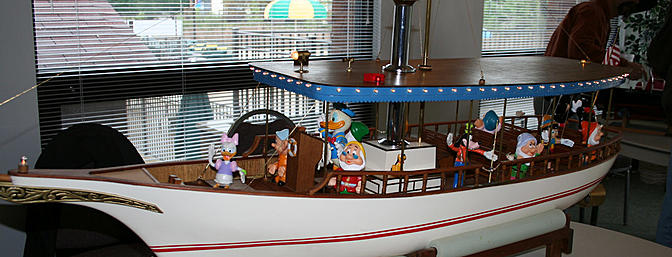 Jim McCoul's Disney boat... more great craftsmanship and imagination.