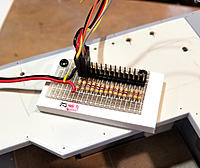 Name: L20181214_142342.jpg Views: 136 Size: 239.3 KB Description: The resistor/junction board, secured to a mounting board that will get glued somewhere.