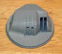 Name: cast127turret.jpg Views: 846 Size: 24.6 KB Description: 12.7cm closed turret, one of six.