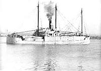 "Name: Daisy%20Gray%20Laden.jpg Views: 254 Size: 7.7 KB Description: 3-island steam lumber schooner ""Daisy Gray"""