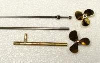 Name: stufftubes.jpg Views: 989 Size: 53.1 KB Description: Old 3mm shaft & prop next to 4mm shaft, bigger prop, new tube.