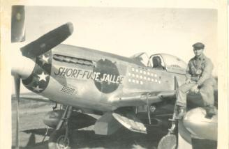 Here she is with Captain Turner's crew chief somewhere in Europe.