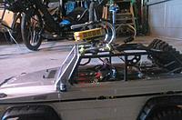 Name: 0519181008b.jpg Views: 8 Size: 689.8 KB Description: I arc welded two U bolts together to make a crash cage.