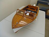 Name: front deck view.jpg Views: 137 Size: 1.47 MB Description: Beautiful ribbon grain mahogany front deck and deck hardware with the scale windshield.