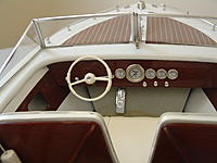 Name: Dashboard view.jpg Views: 68 Size: 2.65 MB Description: The dashboard view showing features unique to the HIGGINS boats.  Note that the throttle is a foot operated gas pedal and the gear shift is a column mounted.