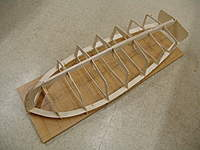 Name: DSC04419.jpg Views: 450 Size: 71.7 KB Description: The frame work lined up and glued down to the building board