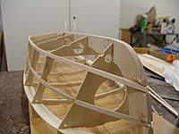 """Name: DSC04427.jpg Views: 333 Size: 54.1 KB Description: The full 1/4"""" x1/4"""" laminated chine in place on the fram work."""