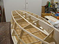 Name: DSC04429.jpg Views: 298 Size: 60.0 KB Description: Gluing in the bottom battens from frame F1 to the transom.