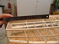 Name: DSC04438.jpg Views: 329 Size: 55.0 KB Description: Remember to check with a straight edge the run of the bottom at several places starting at the keel and working out to the chine.