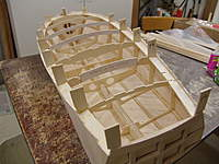 Name: DSC04462.jpg Views: 362 Size: 79.5 KB Description: We now get the idea of the size of this model.  You can see the reason for the good fits on the sub planking when you look inside the hull.