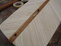"""Name: DSC04474.jpg Views: 364 Size: 64.2 KB Description: Notice that the 1/4"""" reference mark is always used to position the plank when fitting so that when you go to glue it down, you are always in the same spot."""