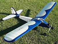 Name: userc-1 2021 mtown rc flyer field labor day 9-6-21  (3).jpg Views: 36 Size: 1.02 MB Description: My RC-1 uses Marv Stern's electronic ignition switch along with an Air-O spark airborn coil , 3 AA nicads for spark power. Sig Koverall used , nitrate dope&Water base polyurethane blue &clear. Coleman fuel &  30%   #30 motor oil used. 5 Lb fly