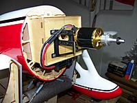Name: Motor Installed 01.jpg Views: 95 Size: 89.1 KB Description: Motor installed using an adjustable aluminum motor mount.