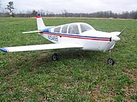 """Name: Bonanza 01.jpg Views: 40 Size: 154.1 KB Description: Bonanza with conventional tail.  I tried it with the """"V"""" tail but just did not like the way it looked.  It also had more yaw tendencies with the V-tail."""