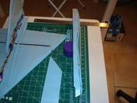 Name: DSC00308.jpg Views: 367 Size: 58.6 KB Description: Working on the intakes. Foam strips glued in for shaping fuselage. It was here that I remember about the foam bending thread.