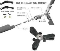 Name: 3 Blades Tail assembly with k130 parts.png