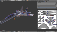 """Name: ALL OBJECTS 2D PROJECTIONS WITH PAINT.png Views: 8 Size: 406.4 KB Description: Final Inkscape image saved as """"SU-35 Paint 2.png"""" and linked back to Blender.  Ta-da!"""