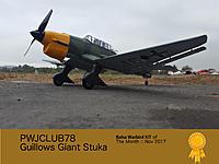 Name: PWJClub78_GuillowsGiantStuka_kit_of_The_Month_Nov_2017.jpg Views: 49 Size: 476.6 KB Description: Guillows Giant Stuka Kit Build