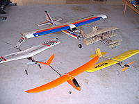 Name: 2004_1023_091255AB.jpg Views: 76 Size: 241.3 KB Description: Some of my first planes. My very first was a glider, it can be seen on the first post of this thread.