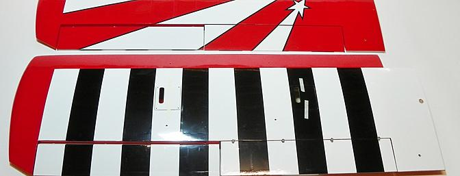 Wing panels as provided. Top of the left wing and bottom of the right wing shown.
