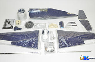 Kit contents with individually wrapped sub-assemblies.