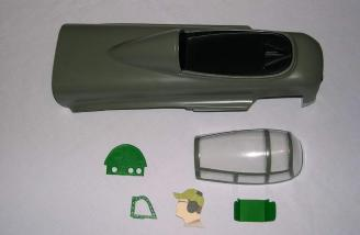 Tail-gunner canopy and cabin parts.