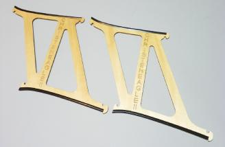 Plywood wing transport frames.