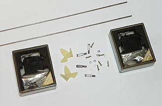 Elevator servos, control horns, pushrods, and accessories.