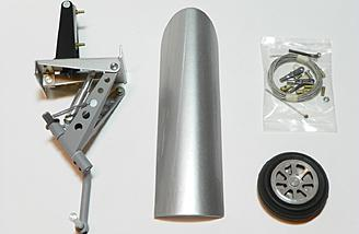 Tail wheel retract, retract cover, Robart tail wheel, and accessories.