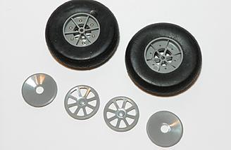 Stock main wheels.