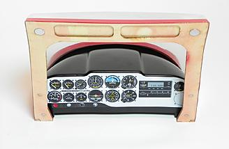 Instrument panel decal installed onto the instrument panel shroud.