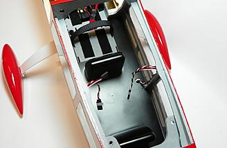 Final secondary battery tray and cockpit floor installation.