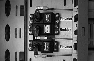 Servos for elevators as shown in the manual.