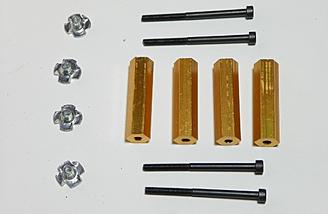 Motor mount / standoffs are included with the kit.