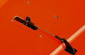 Aileron control / pushrod system.