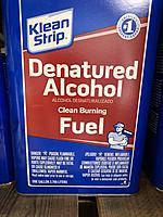 Denatured alcohol for burner? - RC Groups