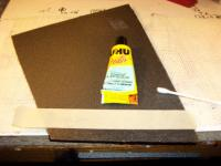 Name: Tape Hinge Step 3.jpg Views: 1957 Size: 67.9 KB Description: Apply thin coat of cement to masked off area.
