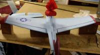 """Name: Blu-51ips 18.jpg Views: 879 Size: 32.2 KB Description: Block the wings and fuse to set the dihedral (if you wamt it) to 1"""" on each tip"""