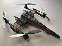 Name: IMG_5732.JPG Views: 38 Size: 2.22 MB Description: StarWar X-Wing. FC: Matek F405-CTR iNav 2.4.0. Rx:  FrySky X4R. Motors:  RTF HT-450 1050kv. ESC: Little Bee Pro 20a. Props:  9045.
