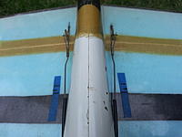 Name: 5underwinrods.jpg Views: 85 Size: 454.0 KB Description: Bottom View of aileron linkages and  reinforced hinges