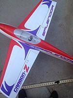 Name: photo 2.jpg Views: 105 Size: 120.8 KB Description: View of plane from the top after modification of aileron servo arm direction