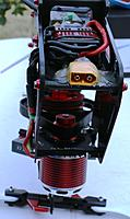 A front (up-side-down) ESC and power plug view.