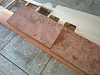 Name: IMG_20190430_074840359.jpg Views: 6 Size: 7.74 MB Description: Garden pavers add the perfect amount of weight hopefully all that is needed is weight and water to straighten the leading edge of the right wing out