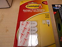 """Name: DSCN2108.jpg Views: 83 Size: 173.2 KB Description: Package of the """"command strips"""" used for mounting the landing gear.  (see video for instructions)"""