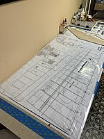 Name: DCE61001-E100-435E-B559-E6B6CE94180E.jpg Views: 15 Size: 3.67 MB Description: Now I setup for the Wing. it takes up my entire building board.  I am thinking about cutting the plans and building one wing at a time.  What would you do?