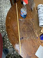 Name: 4C65309A-63D1-4B10-A9CB-85D687619911.jpg Views: 8 Size: 4.53 MB Description: This is how I straighten the spar. I sprayed it with windex and pressed it flat.  Kinda a Hail Mary but it worked.