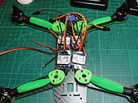 Name: build29 - Copy.jpg Views: 244 Size: 144.5 KB Description: Ready To Fly Quads Ice Blue 12A ESCs RTFQ 1806 2300KV motors Moray spacers