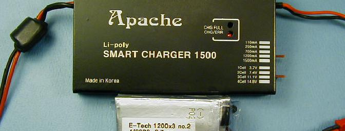 The Apache 1500 with a 3s pack of E-Tec 1200s