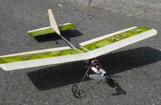 The just-finished stik, ready for the maiden flight with the EPS-350C-C power system.