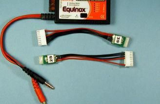 You get the Equinox, harnesses for 2s and 3s batteries and six pages of instructions (not shown) in the box.